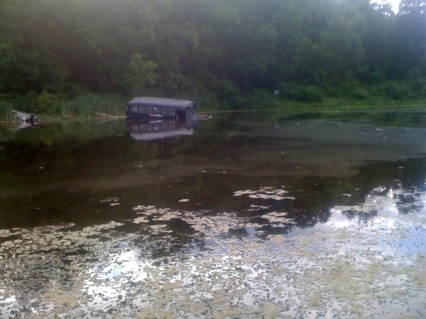 Bus In Water