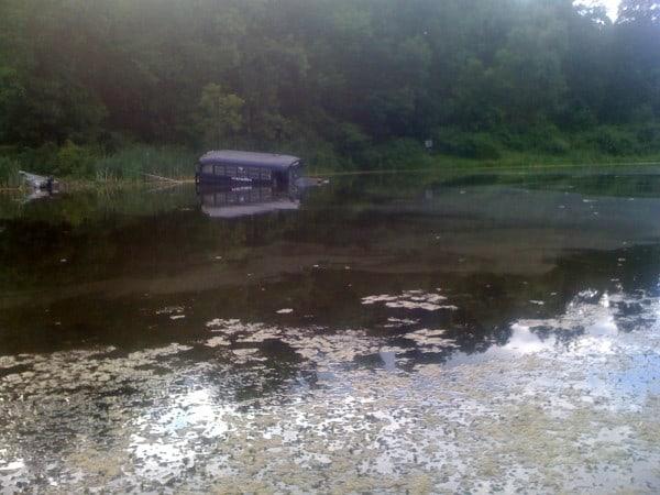 Bus In Water