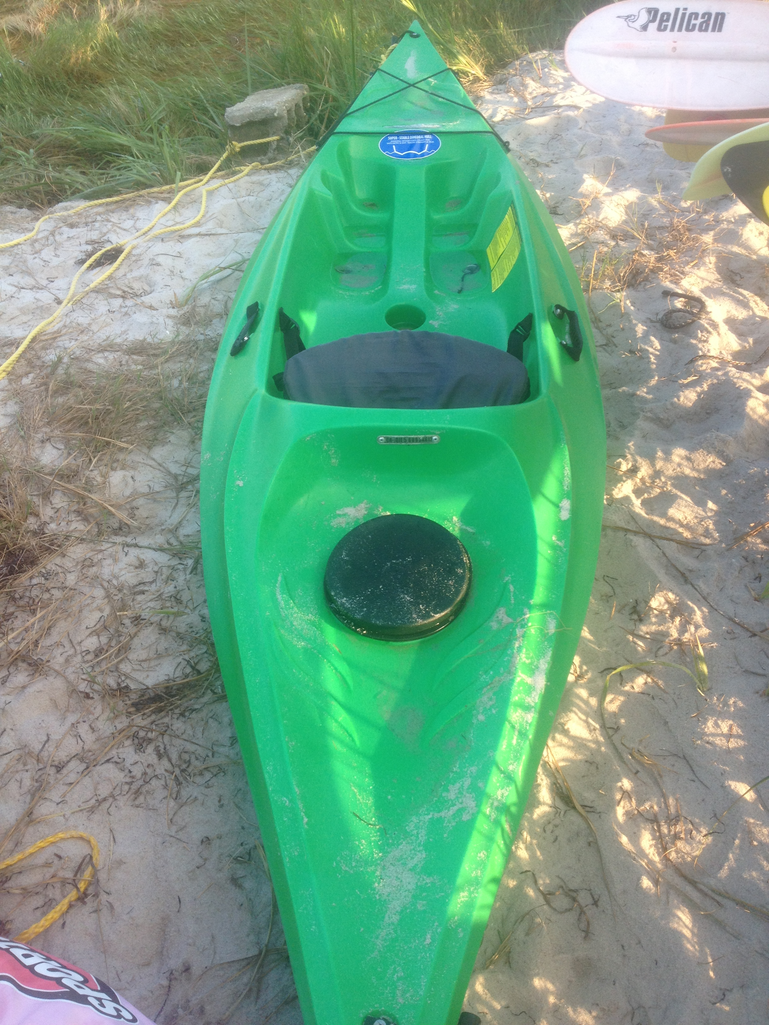 Green Paddle Boat