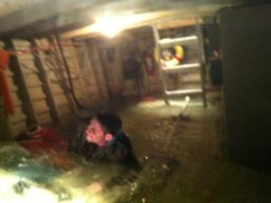 Trapped in Sinking Boat